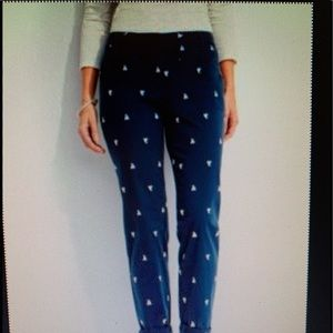 TALBOTS WEEKEND CHINO PANTS SIZE 2 Navy/MULTI NWT!